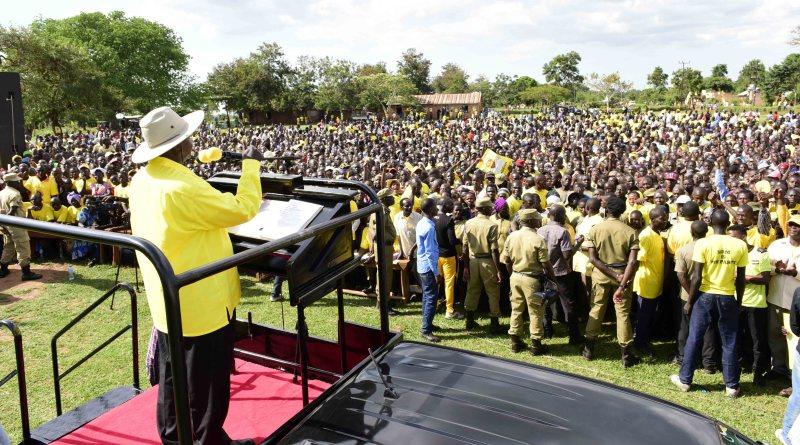 NRM Presidential Candidate Yoweri Kaguta Museveni  campaigning. NRM Photo