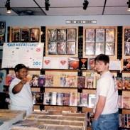 New books wall, circa 1999.