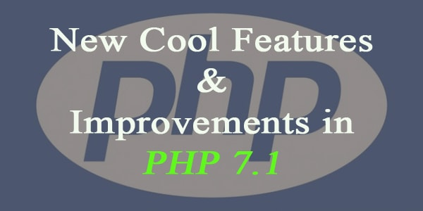 Whats new in PHP 7.1