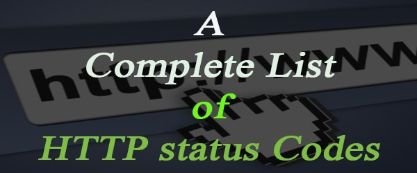 Complete List of HTTP Status Codes