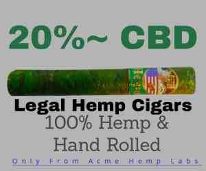 hemp cigar banner leads to smokeable hemp store