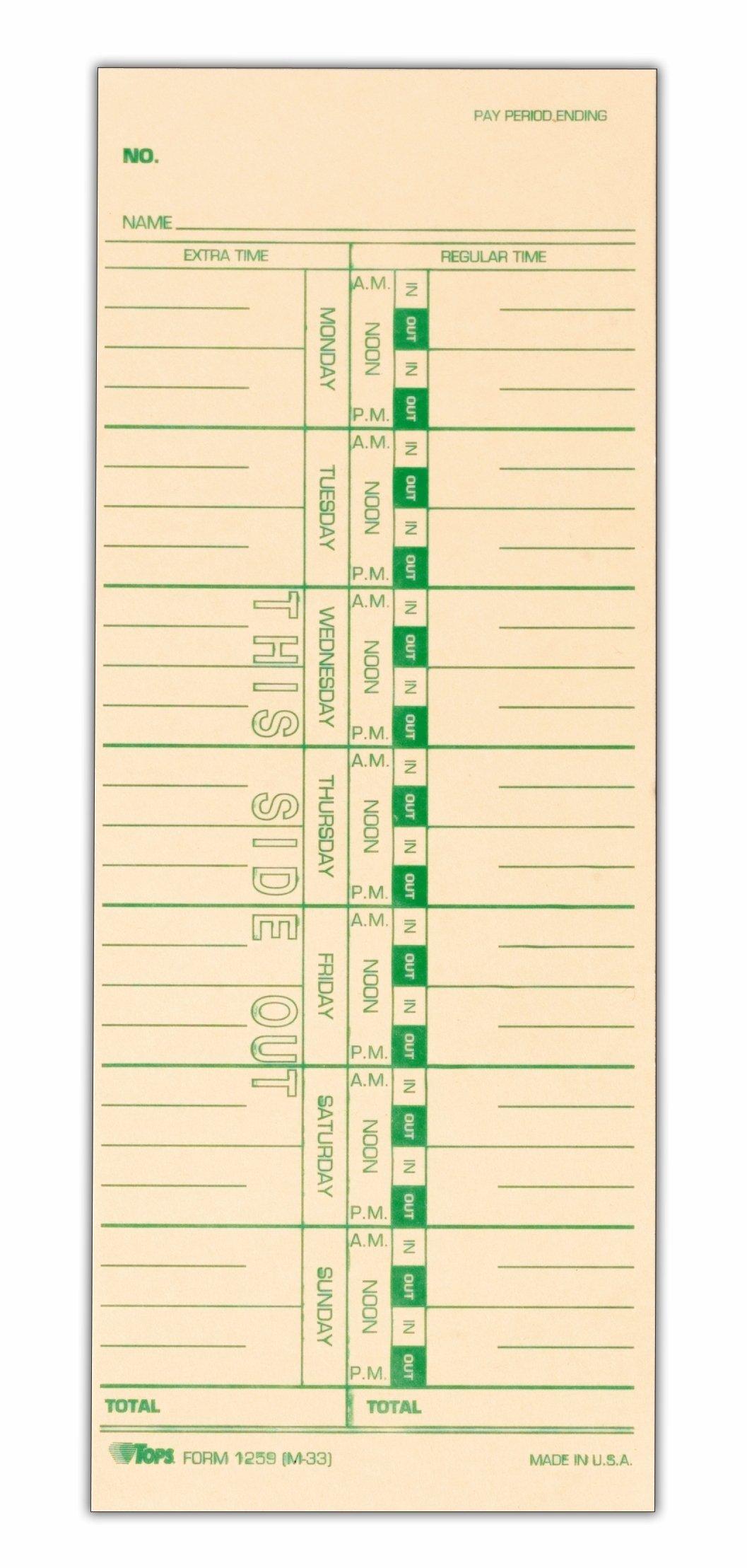 Printable Timecards
