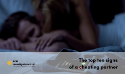 The top ten signs of a cheating partner