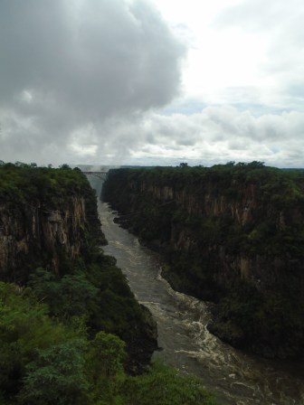 Zambia across the gorge