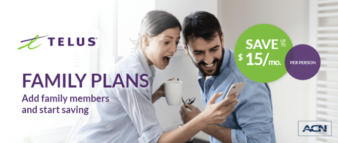 Family plans - add family members and start saving!