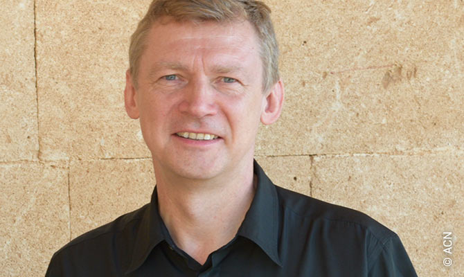 "Dr Slavomir Dadas, chair of the ""Initiative Christlicher Orient"" (Initiative for the Christian Orient) in Linz, Austria."