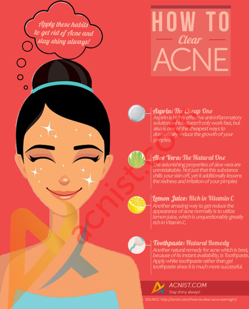 how to clear acne overnight
