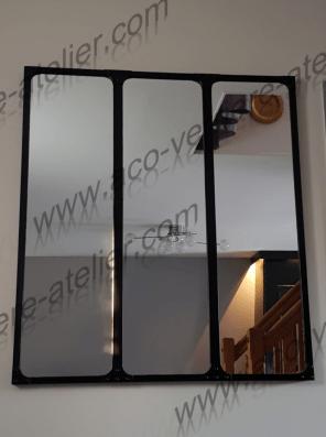 Miroir esprit verrière à rivets à chaud modernes et design