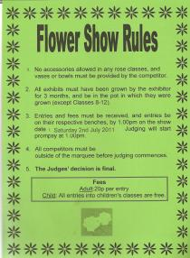 Flower Show Rules