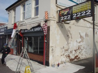 Thanks to John Alder for arranging repainting of building