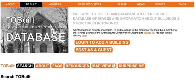 Tobuilt Database Aco Heritage Awards