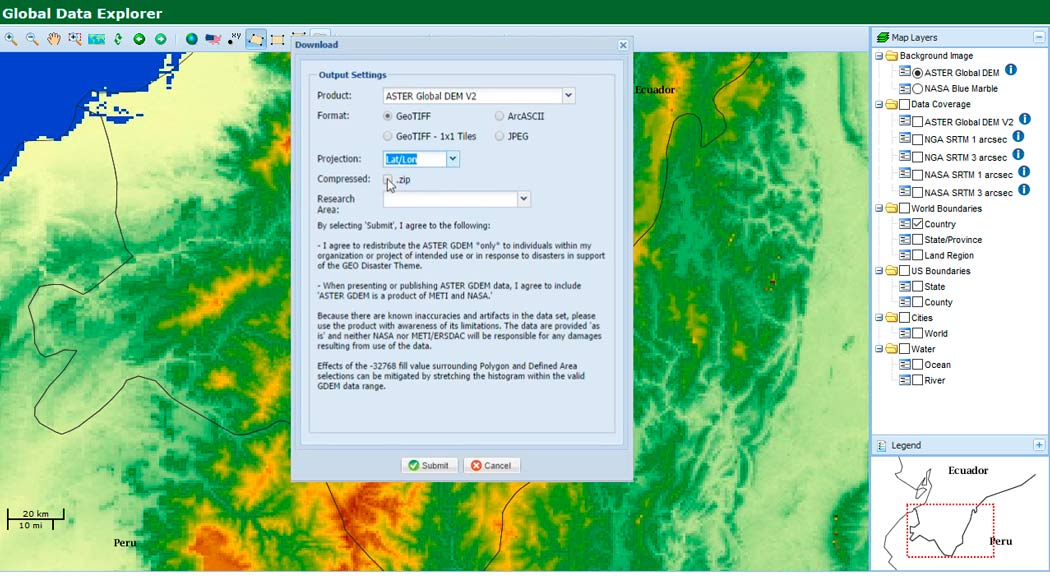 Download a free Digital Elevation Model (DEM) – GeoGeek