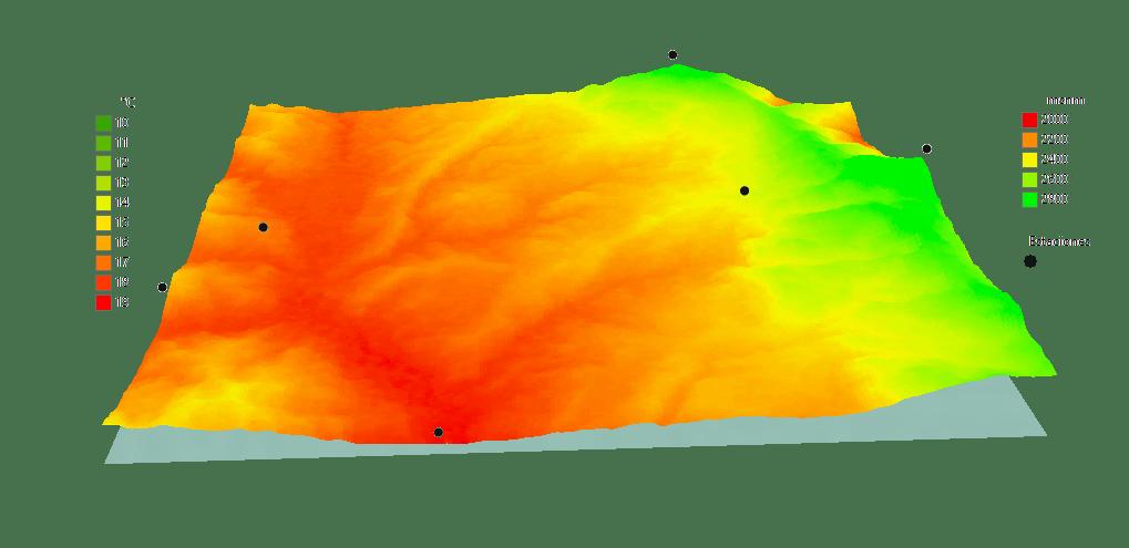 Crear un mapa de isotermas considerando el gradiente altitudinal ...