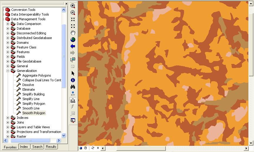 Polígonos simplificados en Arcgis