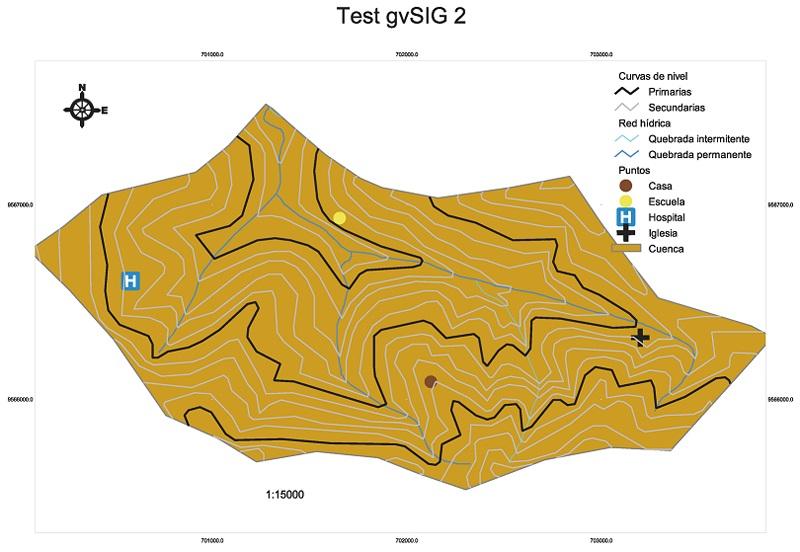 Mapa elaborado en gvSIG