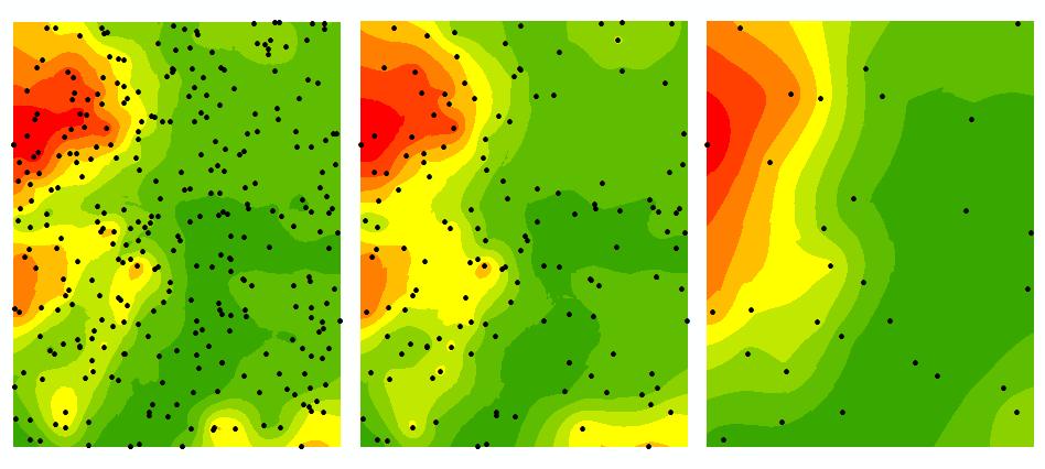 Estrategias de muestreo en la interpolación.