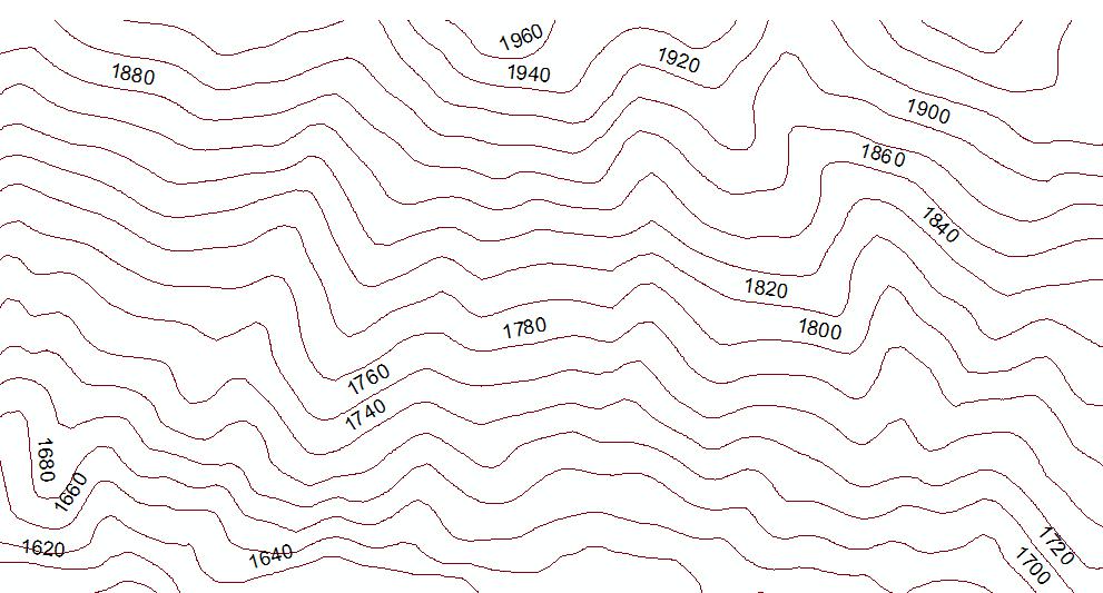 Curvas de nivel en ArcGIS