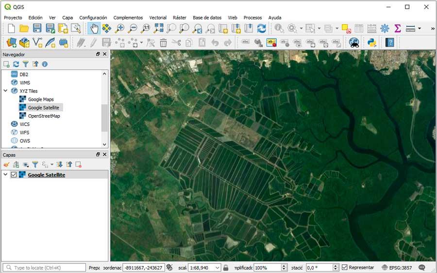 Sincronizar Google Earth con QGIS 3