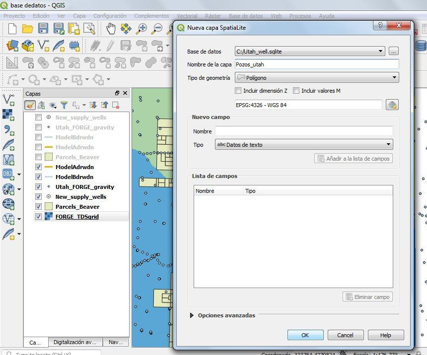 Crear spatialite en QGIS 3