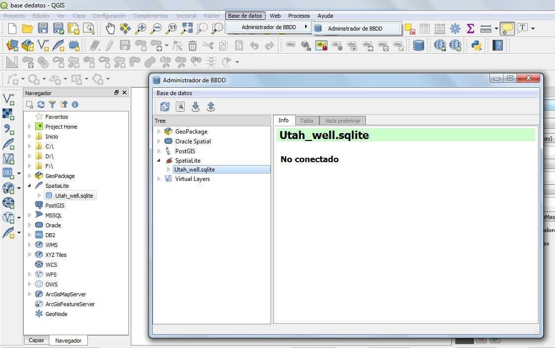 Bases de datos QGIS 3
