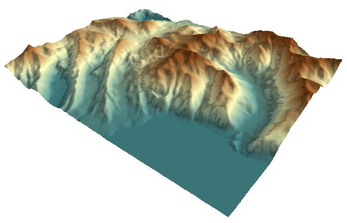 Imagen con sombra creada a partir de datos rasterizados