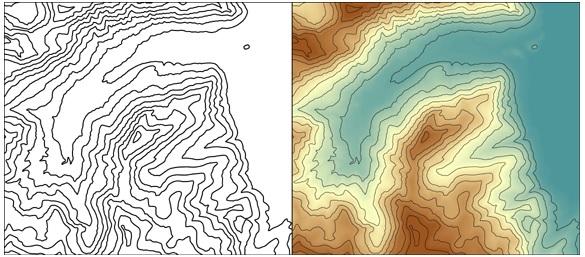 Isolíneas con esquema de color secuencial