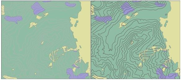 Mapa con tipos de comunidades vegetales