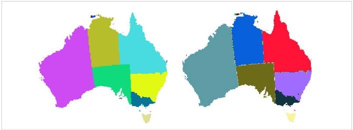 Mapas con algoritmo vecino más cercano e interpolación bilineal