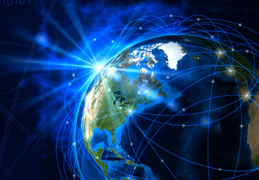 Red mundial de satélites