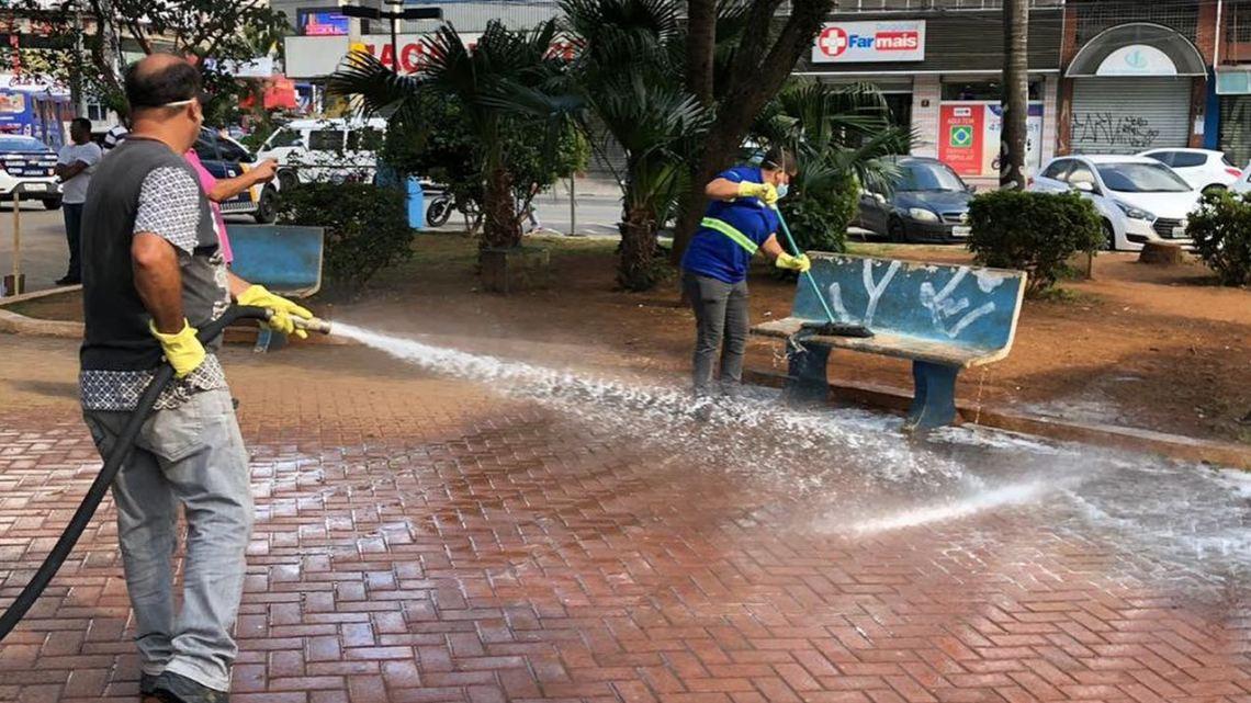 Prefeitura de Jandira reforça higienização dos espaços públicos para combater o Covid-19