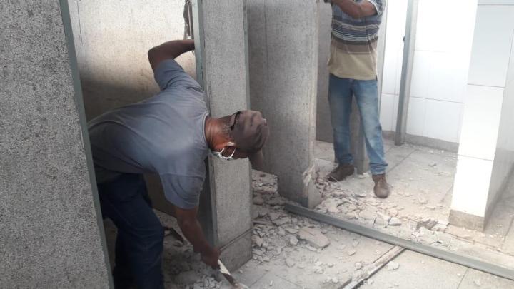 Prefeitura de Jandira inicia reforma em banheiros do terminal rodoviário central