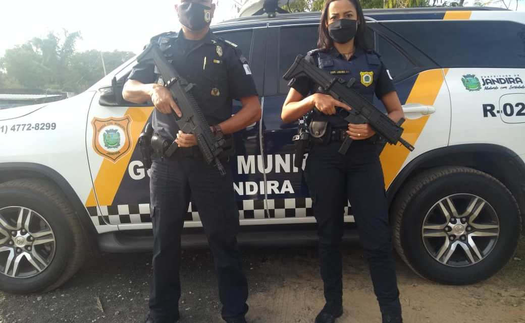Guarda Civil de Jandira recebe novos armamentos