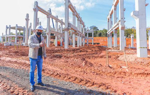 Com obras aceleradas Novo Hospital Municipal de Santana de Parnaíba começa a ganhar forma e terá mais de 200 leitos