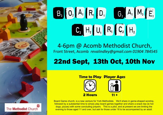 Board Game Church Poster