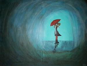 melancholy in the rain