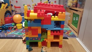 kids' block structure