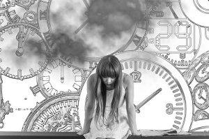 girl under time pressure