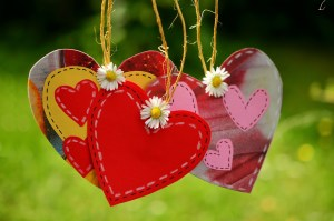 hearts on cords