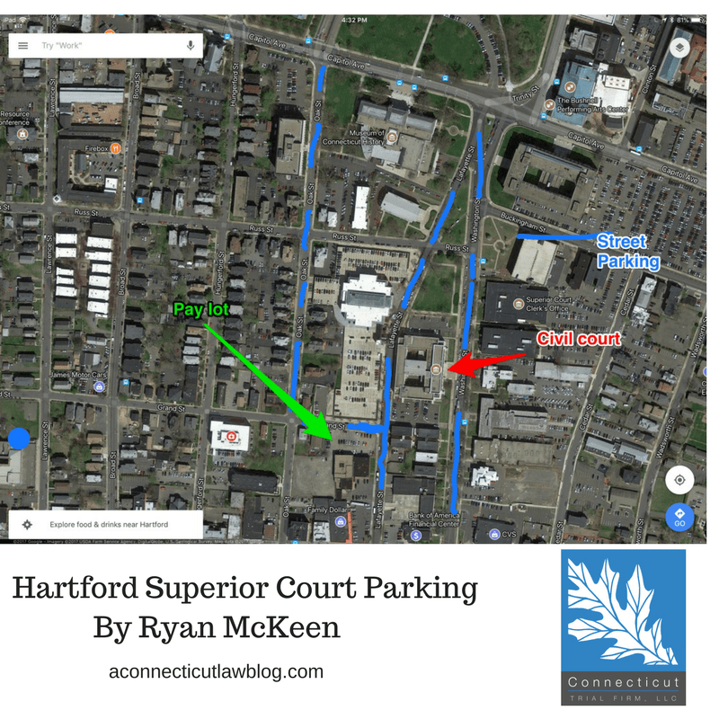Parking at Hartford Civil Court