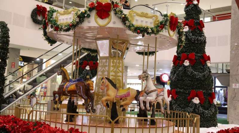 decoração de natal do Maxi Shopping