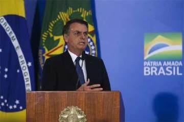 Foto do presidente Bolsonaro