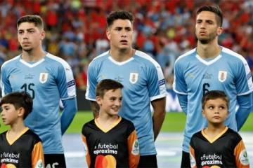 Foto de jogadores uruguaios perfilados