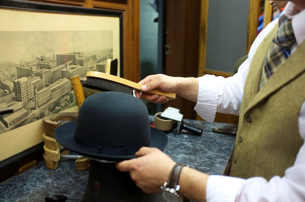 4125f3a5abc ... all of the finely made hats. Next time you are on Fifth Ave (between  31st   32nd streets) stop in and see if you can avoid the lure of the  Borsalino.
