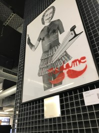 Œuvre de Madame Moustache à l'École 42 / Art 42 Musée du Street Art. Paris 17e. © Photo : ÀContreGenre