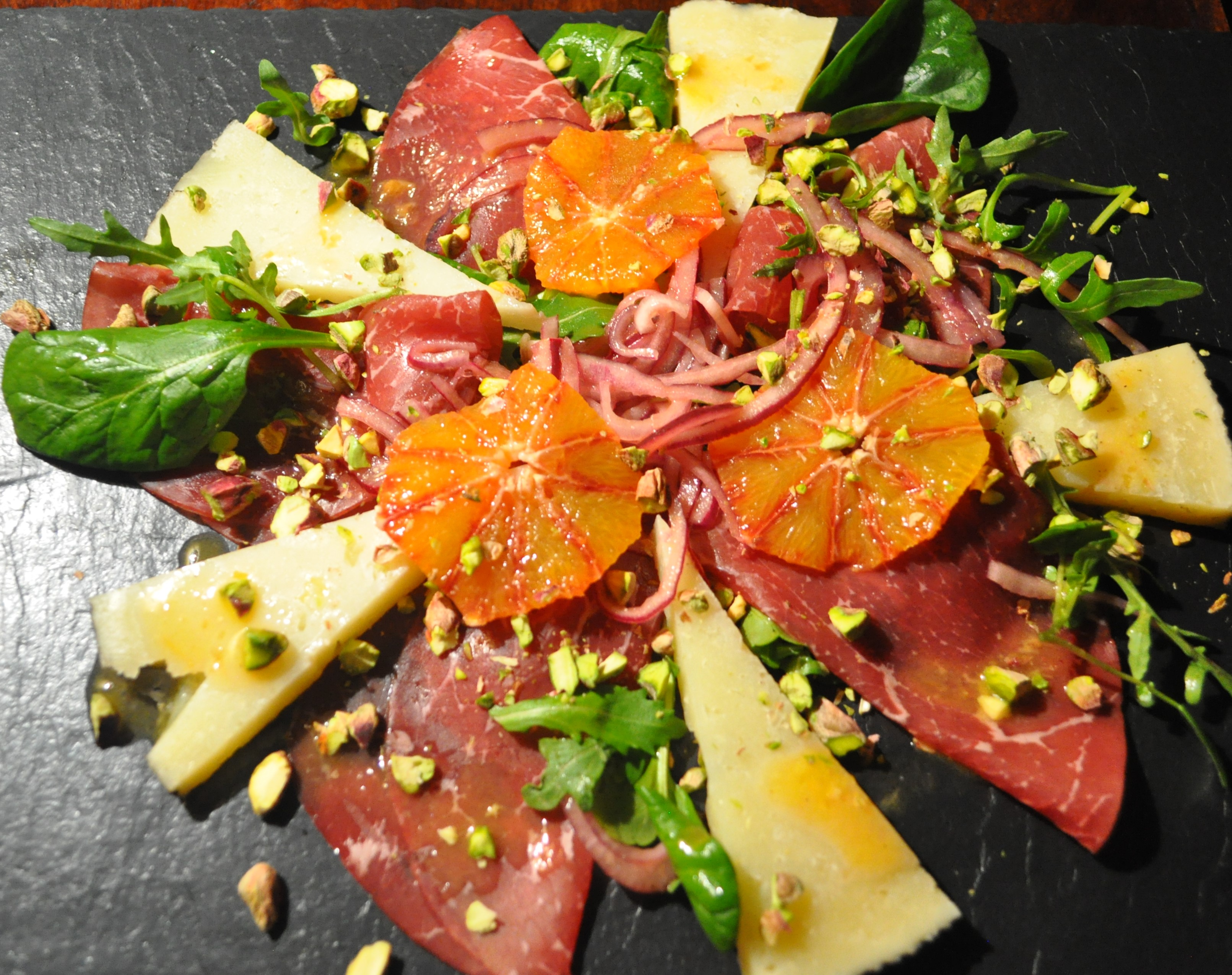 Bresaola Manchego Blood Orange - A Cookbook Collection