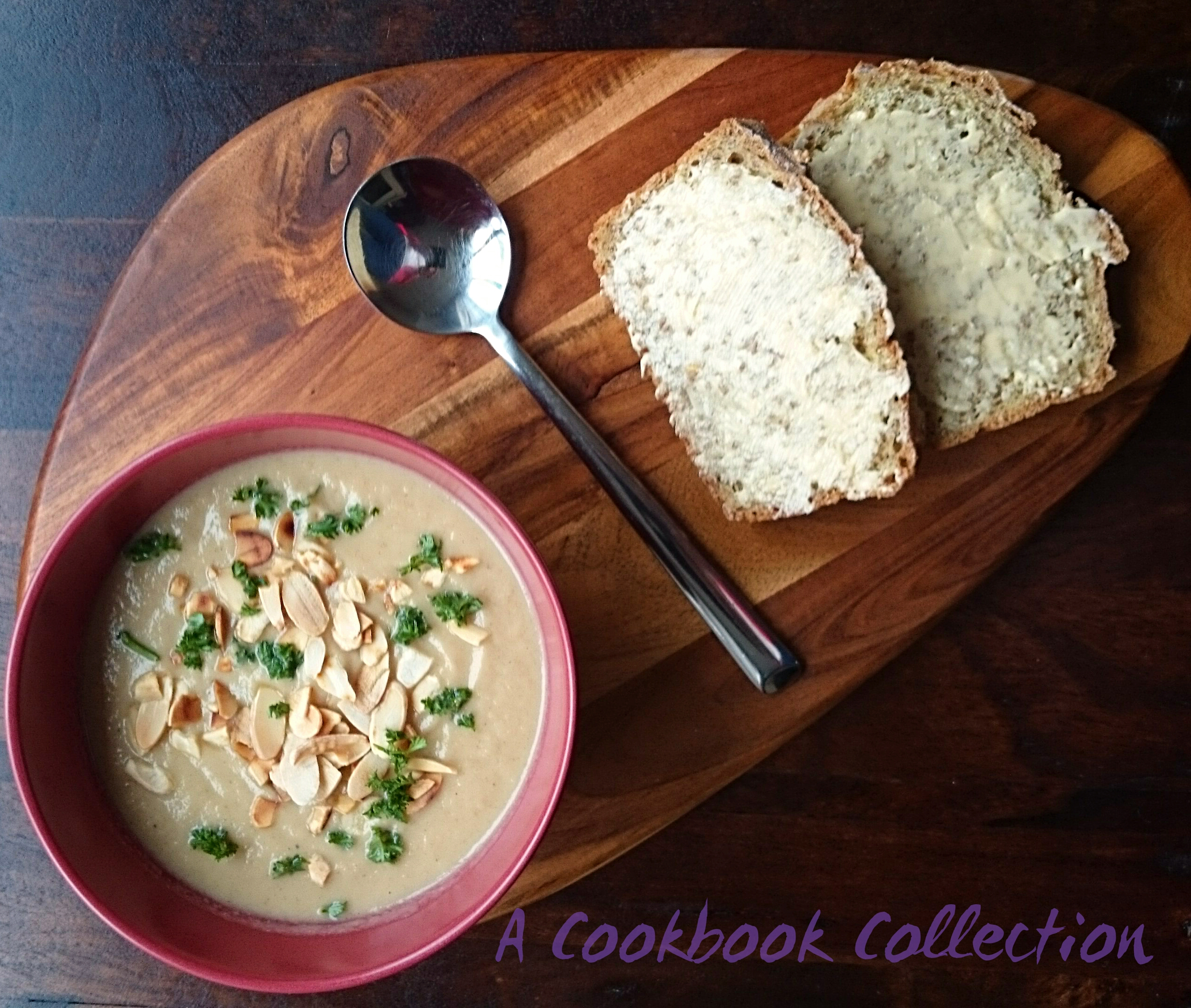 Cauliflower and Ras el Hanout Soup - A Cookbook Collection 2