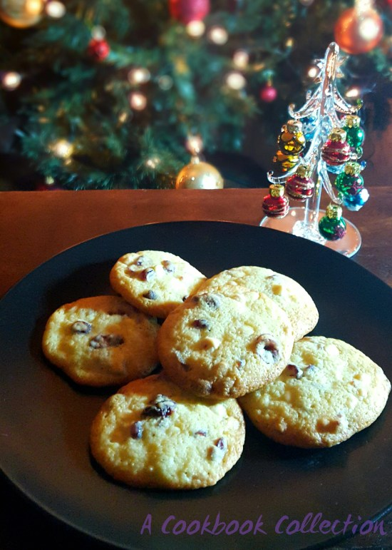 Orange Cranberry and White Chocolate Cookies -A Cookbook Collection