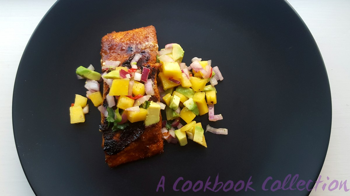 Sweet and Spicy Salmon with Mango and Avocado Salsa