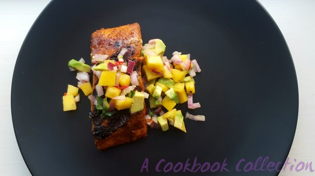 Sweet and Spicy Salmon with Mango and Avocado Salsa-A Cookbook Collection