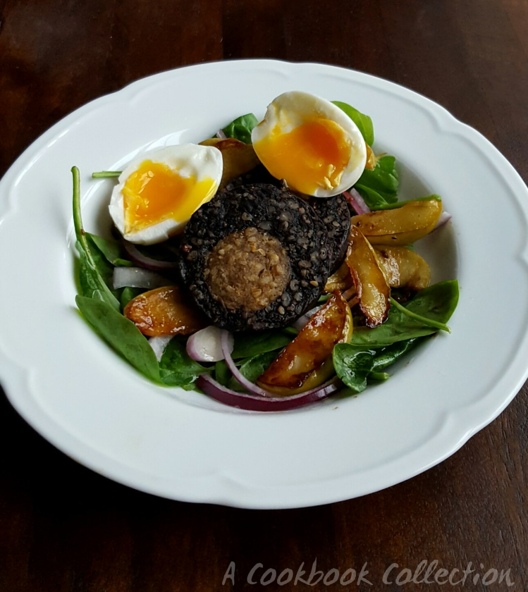 Warm Black Pudding and Apple Salad
